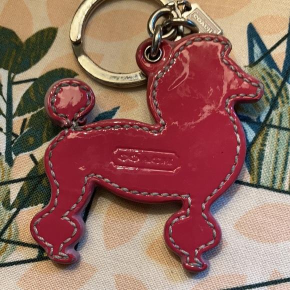 Coach key chain adorable pink poodle🌸💕🦩🐶👛